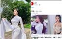 Nổi tiếng nhờ mặc áo dài, gái xinh Việt xuất hiện trên báo Trung