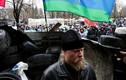 Người ủng hộ Ukraine làm lá chắn cho lực lượng biểu tình