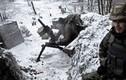 Những chiến hào chìm trong băng giá ở miền đông Ukraine