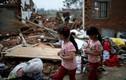 Hình ảnh tan hoang sau trận lốc xoáy, mưa đá ở Trung Quốc