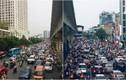 """Giao thông """"lộm nhộm"""" trên con đường tắc nhất Hà Nội"""
