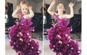 Mẹ tạo váy lộng lẫy cho con gái nhỏ bằng rau củ quả
