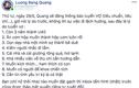 Độc thân chưa được 1 tháng, Lương Bằng Quang đăng đàn tuyển vợ