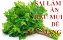 Video: Sai lầm khi ăn rau mùi dễ rước ung thư vào người