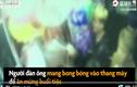 Video : Bong bóng phát nổ trong thang máy