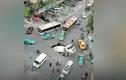 Video : Hố tử thần khổng lồ nuốt chửng xe trộn bê tông