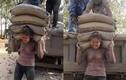 Cô gái Trung Quốc vác 20 tấn xi măng mỗi ngày