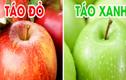 Ăn táo đỏ hay táo xanh là tốt nhất?