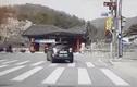 Video: Cụ ông 72 tuổi lái ô tô đâm sập cổng công viên