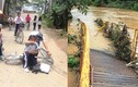 Cầu Bà Cải bị cuốn trôi: Hàng trăm học sinh khốn đốn đến trường