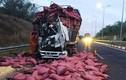 Tài xế và phụ xe tải kêu cứu thảm thiết trên cao tốc HLD