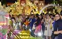 Du khách trắng đêm tham quan đường hoa Nguyễn Huệ trong đêm khai mạc