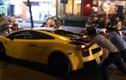 Lamborghini vừa đi vừa đẩy ở TP HCM