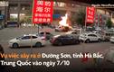 Video: Xe tải chở gas phát nổ như bom, lửa đỏ rực 1 góc phố