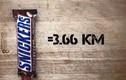 Phát hoảng đo số calo của thức ăn với km chạy bộ