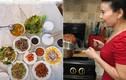 Thèm thuồng mâm cơm đầy ắp dinh dưỡng mẹ Hà Hồ nấu cho con gái