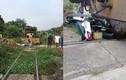 Xe máy bị tàu hỏa tông trúng, 3 người thoát chết thần kỳ