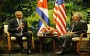 Chùm ảnh Chủ tịch Cuba niềm nở tiếp đón Tổng thống Mỹ