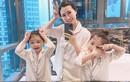 Ở nhà chăm con, mẹ 4 con vẫn xách túi Hermès, váy thướt tha