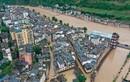 Ảnh mới nhất mưa lũ ở Trung Quốc: Biển nước mênh mông