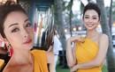"""""""Hoa hậu 4 con"""" Jennifer Phạm khoe thân hình đồng hồ cát qua gương"""