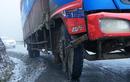 Lào Cai cấm nhiều phương tiện trên quốc lộ 4D vì băng tuyết