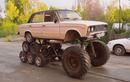 """Dân chơi Nga tự chế Lada """"la già"""" 14 bánh quái nhất thế giới"""