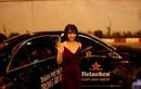 """""""Bắt gặp"""" hot girl Linh Miu trên siêu xe 5 tỷ cùng 3 trai lạ"""