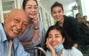 Nghệ sĩ Lê Bình - Mai Phương tươi cười động viên nhau ở bệnh viện