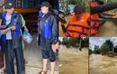 Kỳ Duyên - Minh Triệu bị lật thuyền khi đi cứu trợ ở Quảng Bình
