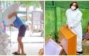 Hình ảnh chồng Việt Hương vác gạo, khiêng áo quan khi làm từ thiện