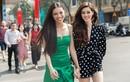 Hoa hậu Khánh Vân đẹp rạng ngời khi mặc váy ngắn chấm bi xuống phố