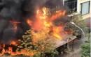 Cháy quán lẩu ếch, cột khói bốc cao hàng trăm mét