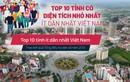 Sáp nhập tỉnh: 10 tỉnh nào có diện tích nhỏ nhất, ít dân nhất Việt Nam?