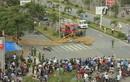 Cận cảnh sập cẩu xây tòa nhà ngân hàng BIDV đè chết người