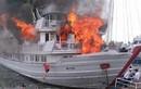 Tàu du lịch cháy ở cảng Tuần Châu, khách nhảy xuống biển