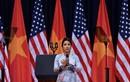 Giây phút Mỹ Linh xúc động hát Quốc ca trước ông Obama