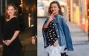 Miranda Kerr đi giày cao ngất ngưởng dù bụng bầu vượt mặt