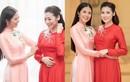 Hoa hậu Ngọc Hân tự may áo dài cưới tặng Tú Anh