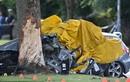 Video: Bị cảnh sát truy đuổi, BMW lao vào gốc cây, 4 người chết