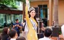 Hoa hậu Lương Thùy Linh diện áo dài về Cao Bằng sau đăng quang