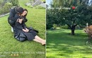 Hồ Ngọc Hà được Kim Lý nhẹ nhàng ôm hôn khi ở Thuỵ Điển