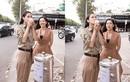 Hoa hậu Thế giới Megan Young thích thú uống trà đá vỉa hè khi đến Việt Nam