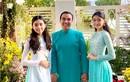 Hai con gái dậy thì thành công, xinh như hoa hậu của MC Quyền Linh
