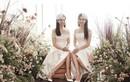 Bạn gái Công Lý hóa cô dâu chụp ảnh cùng Á hậu Thụy Vân