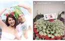 Thuý Ngân được tặng bó hoa toàn tiền đô, fan gọi tên Trương Thế Vinh
