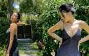 Hoa hậu Kỳ Duyên diện váy hai dây khoe vòng một lấp ló