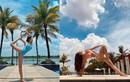"""Chi Pu khoe dáng tập yoga nóng bỏng, gợi cảm tựa """"nữ thần"""""""