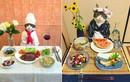 """Chú mèo nổi tiếng khoe món ăn khiến con người """"thèm nhỏ dãi"""""""