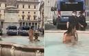 """Cô gái khỏa thân """"tắm tiên"""" dưới đài phun nước khiến cảnh sát """"hết hồn"""""""